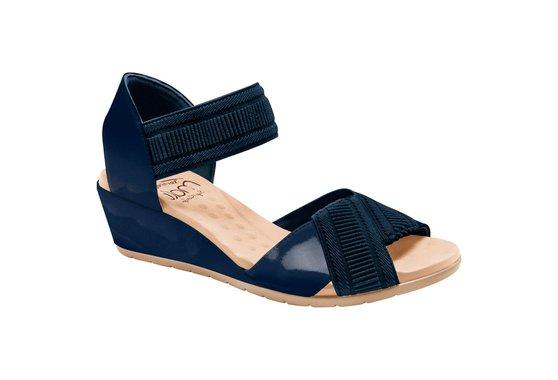 Sandália Anabela Comfort - Azul