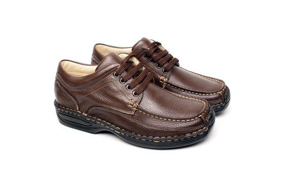 Sapato Masculino Casual Anti Stress - Marrom