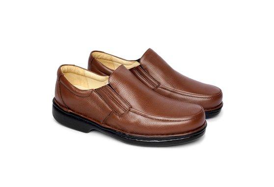 Sapato Masculino Confortável - Marrom