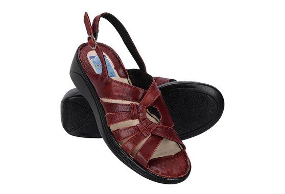 Sandália Confortável Para Senhoras - Vermelha