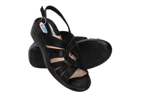Sandália Confortável Para Senhoras - Preta