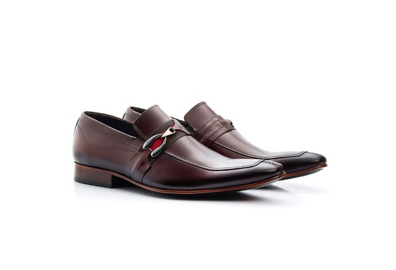 Sapato Masculino Solado de Couro Marrom