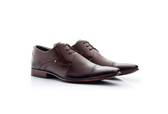 Sapato Derby Masculino Marrom