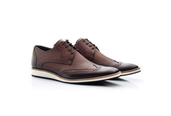 Sapato Brogue Masculino Marrom