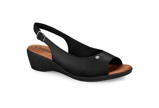 Sandália Confortável - Preta