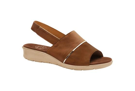 Sandália com Velcro para Esporão, Fascite e Joanete - Caramelo