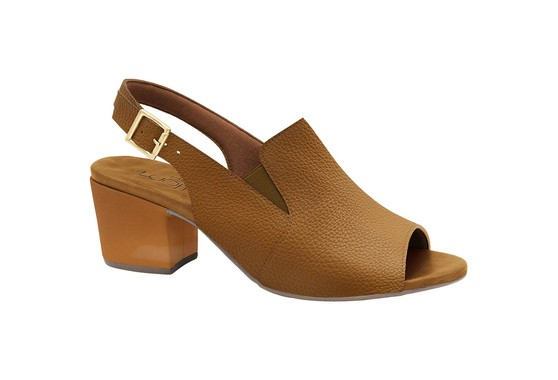 Sandália Ankle Boot Confortável - Caramelo