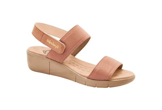 Sandália Fascite e Esporão com Velcro- Pele