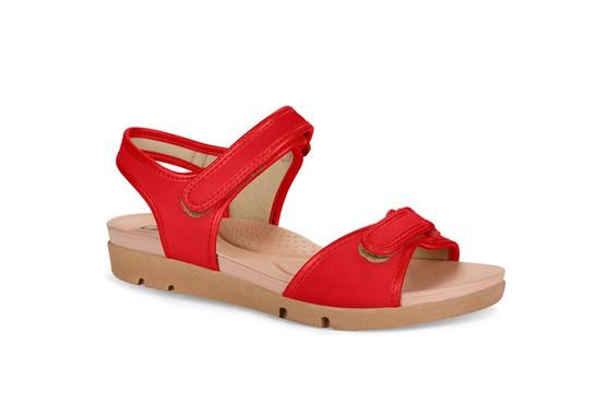 Sandália para Idosa - Vermelha