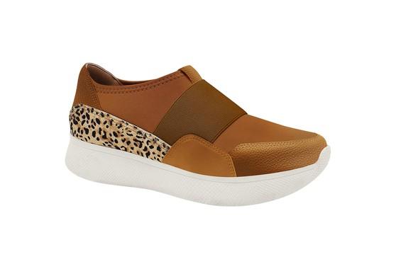 Sneaker Confortável Leopard - Conhaque