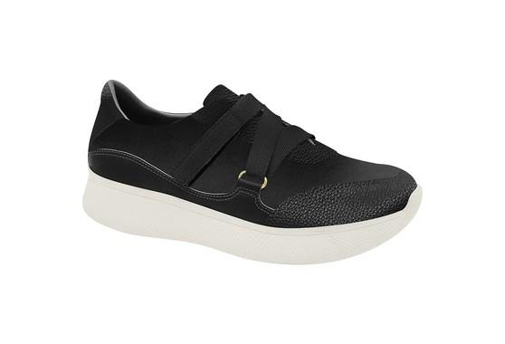 Sneaker Confortável Leopard - Preto