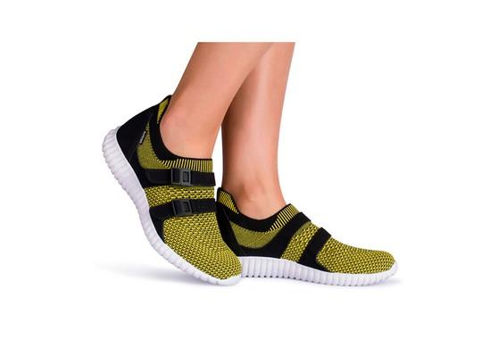 Tênis Caminhada Feminino - Amarelo