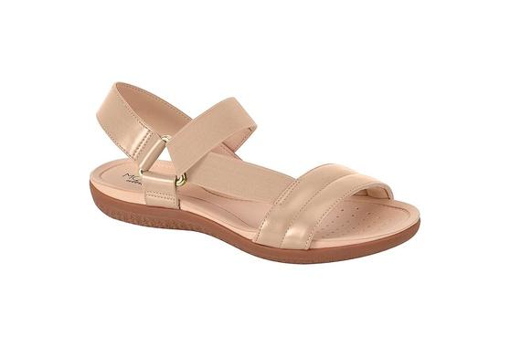 Sandália para Esporão e Fascite com Elástico - Bege