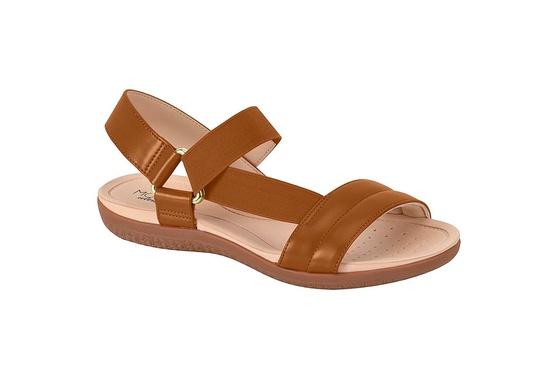 Sandália para Esporão e Fascite com Elástico - Camel