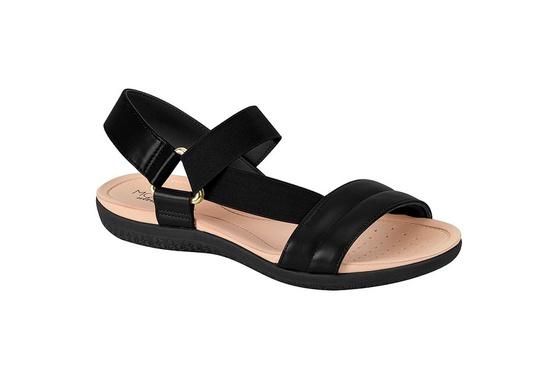 Sandália para Esporão e Fascite com Elástico - Preta