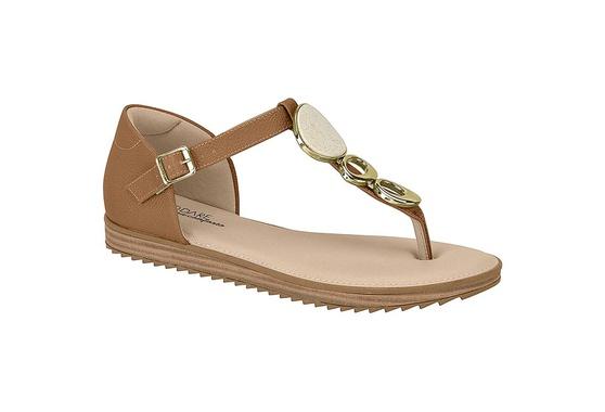 Sandália Confortável Fechada Atrás - Camel