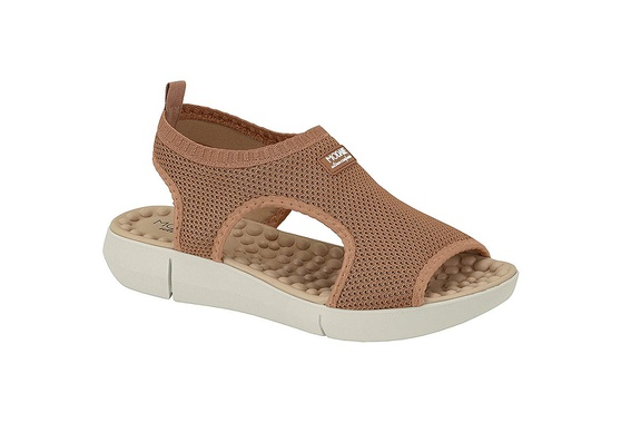 Sandália para Esporão e Fascite com Massageador - Bege