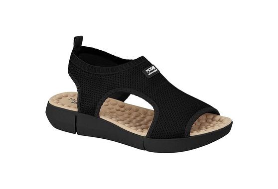 Sandália para Esporão e Fascite com Massageador - Preta