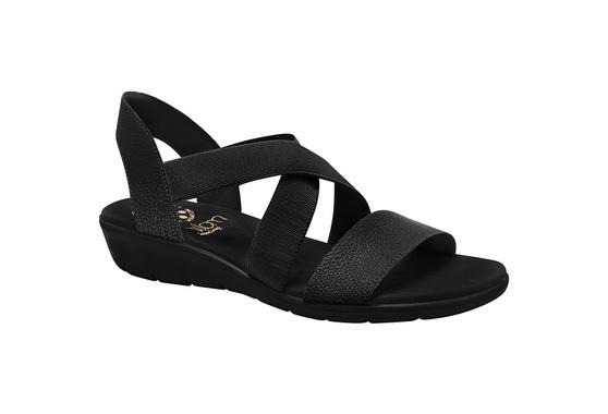 Sandália para Esporão, Fascite e Neuroma - Preta / Sola Preta