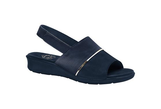 Sandália com Velcro para Esporão, Fascite e Joanete - Azul Navy