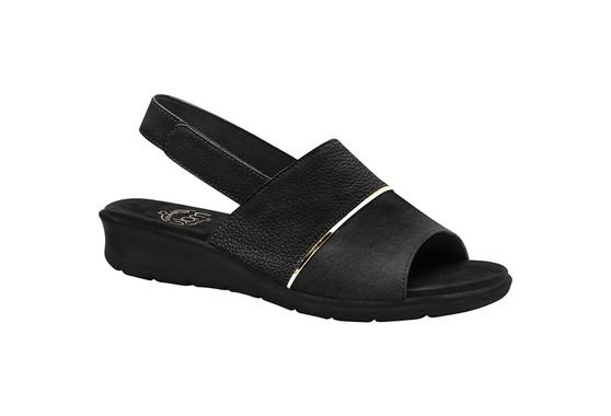 Sandália com Velcro para Esporão, Fascite e Joanete - Preta