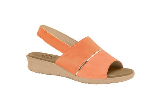Sandália com Velcro para Esporão, Fascite e Joanete - Papaya