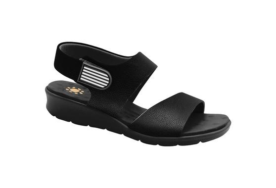 Sandália com Velcro para Esporão e Fascite - Preto