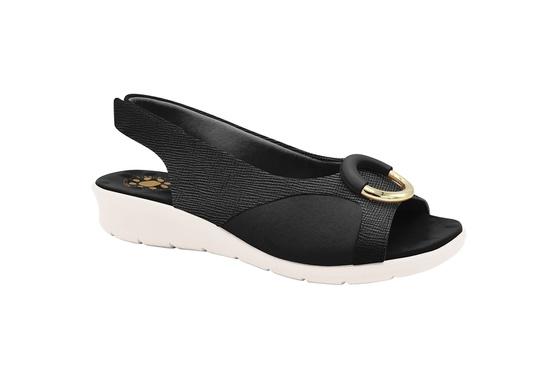 Sandália c/ Velcro para Joanete - Preta