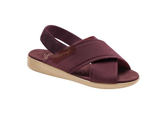 Sandália para Senhoras - Vinho