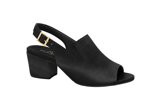 Sandália Ankle Boot Confortável - Mini Relax Preta