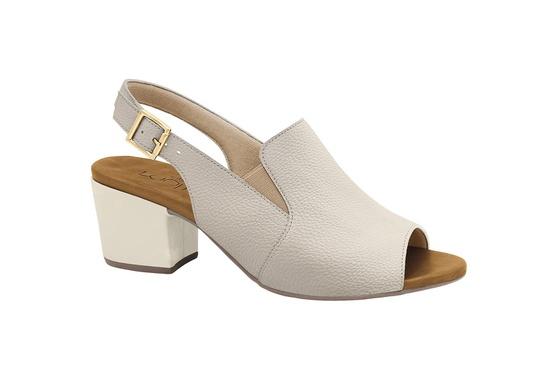 Sandália Ankle Boot Confortável - Off White
