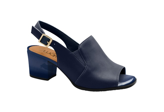 Sandália Ankle Boot Confortável - Azul
