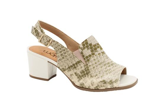 Sandália Ankle Boot Confortável - Suotiura Creme