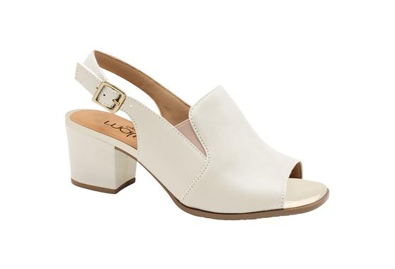 Sandália Ankle Boot Confortável - Porcelana