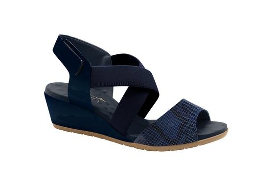 Sandália Feminina Confortável - Azul