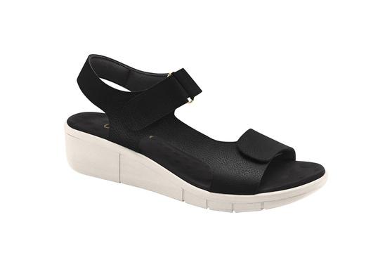 Sandália para Pé Alto, Esporão e Fascite - Preta/ Sola White off