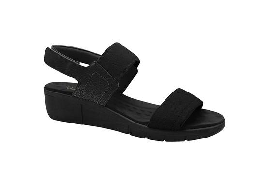 Sandália Esporão e Fascite com Velcro - Preta