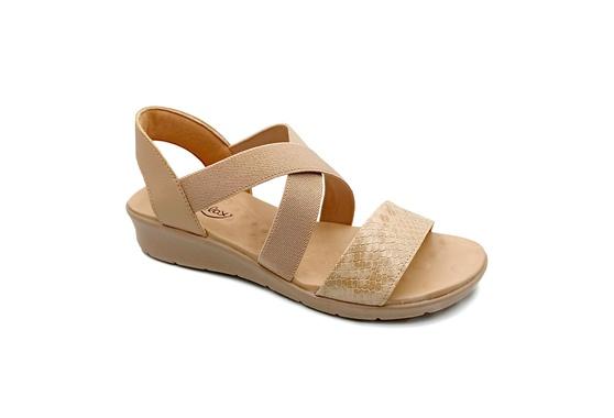 Sandália Confortável para Esporão e Fascite - Bege