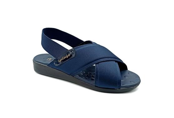 Sandália para Senhoras Esporão e Fascite - Azul Noturno