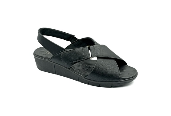 Sandália Confortável para Esporão e Fascite - Preto