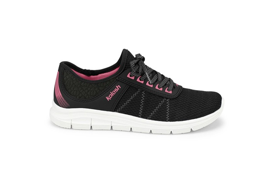 Tênis para Caminhar Feminino - Preto e Pink