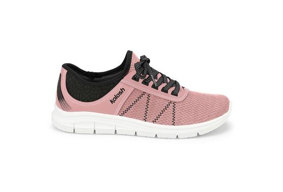 Tênis para Caminhar Feminino - Rosa e Preto