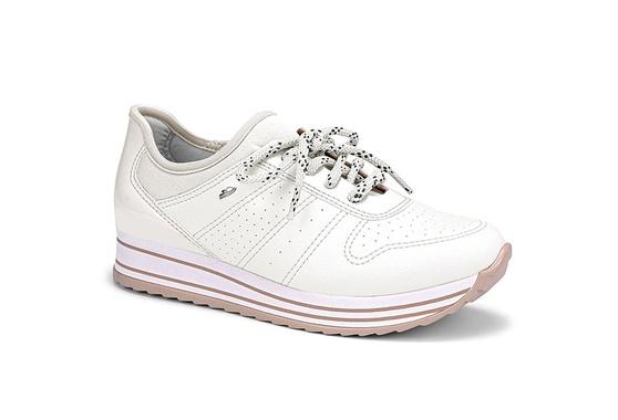 Tênis Feminino Confortável - Branco
