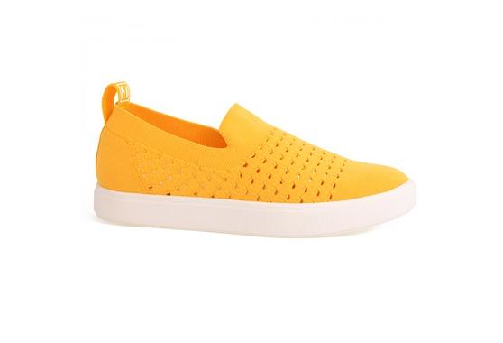 Slip On Feminino em Tecido Knit - Amarelo