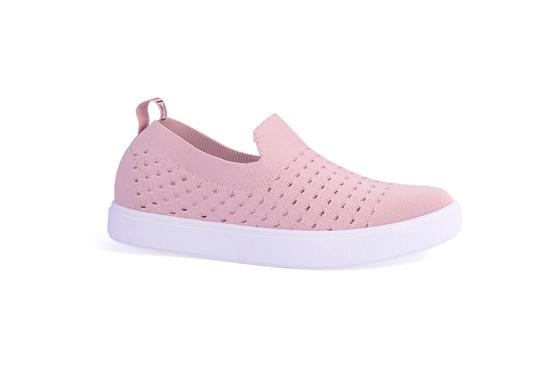 Slip On Feminino em Tecido Knit - Pink