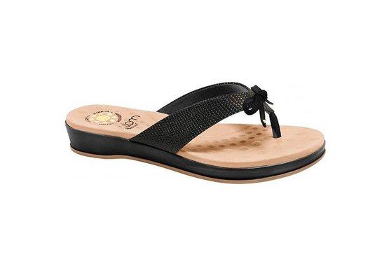 491415af7 Chinelo para Esporão - Preto | Pé Relax Sapatos Confortáveis