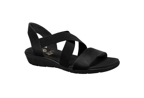 6989c4a45 Sandália Confort Feminina - Preta | Pé Relax Sapatos Confortáveis
