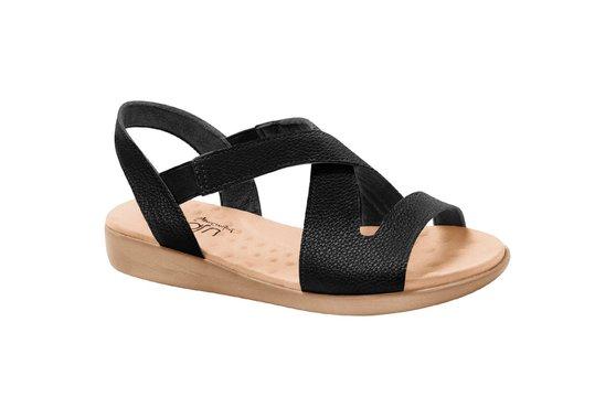 97d455570 Sandália Feminina para Esporão - Preta | Pé Relax Sapatos Confortáveis
