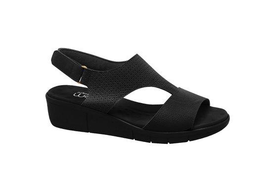 10a4272d2 Sandália Para Senhoras - Preta | Pé Relax Sapatos Confortáveis