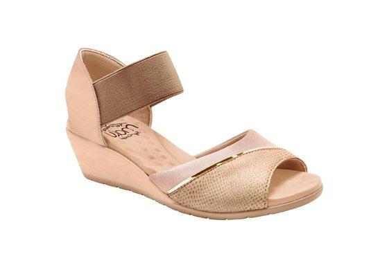8ad2f8671 Sandália Comfort Femina - Bege | Pé Relax Sapatos Confortáveis